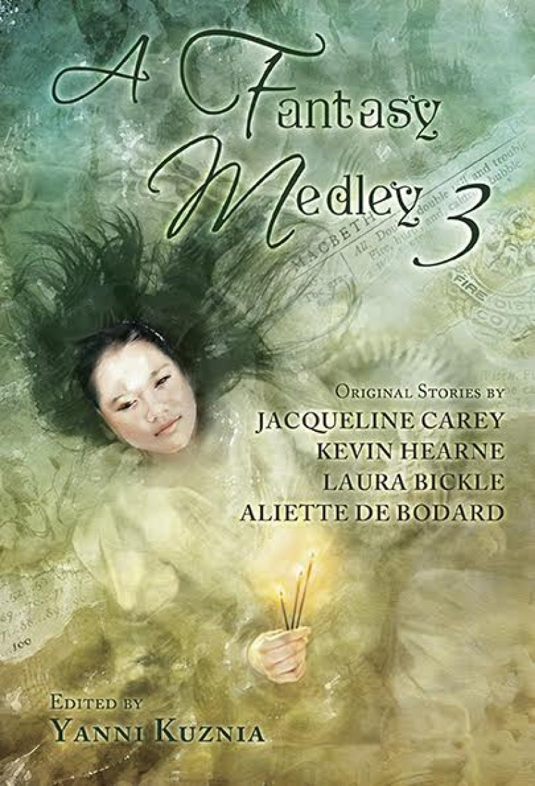 A Fantasy Medley 3 Original Stories by Jacqueline Carey, Kevin Hearne, Laura Bickle and Aliette DeBodard - Buy at Amazon.com