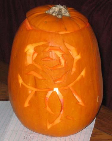 Jack o Lantern with Rose