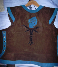 Back of Bodice with Rose Marque